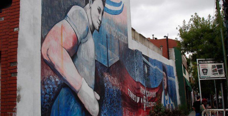 mural ringo bonavena en calle colonia