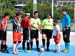 Huracán fútbol ciegos estudiantes