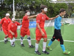 fotos huracán estudiantes fútbol para ciegos