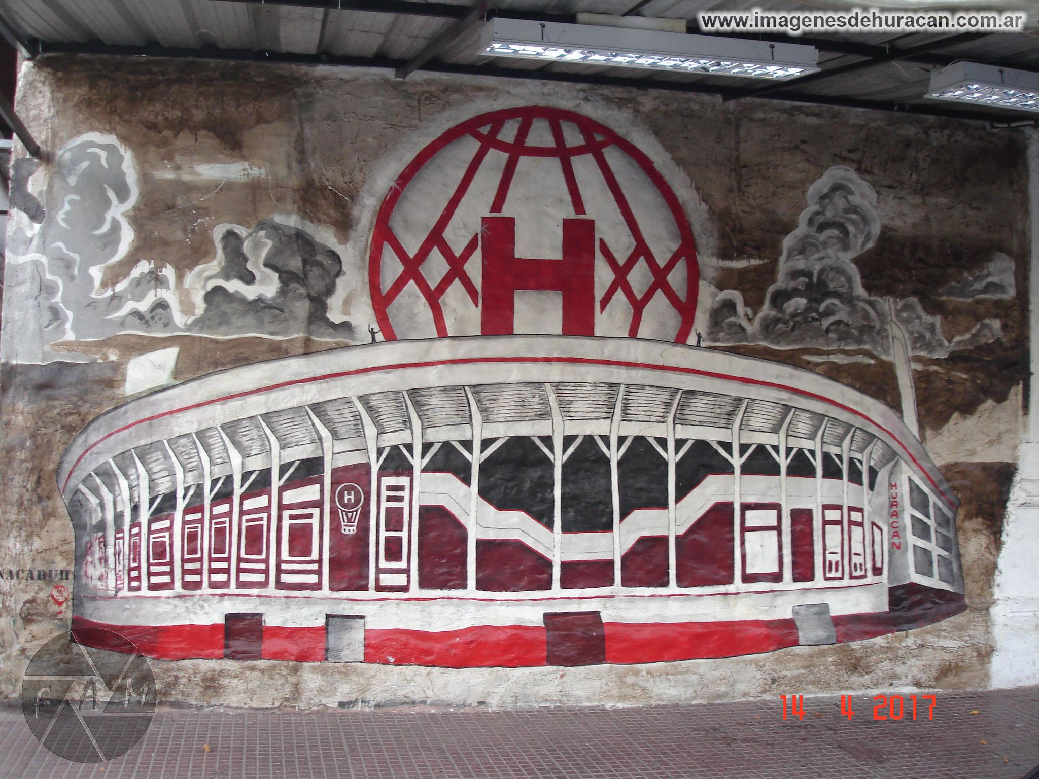 mural Duco Huracán arsenal primera división 2016-2017