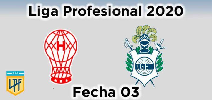 huracán contra gelp gimnasia liga profesional de fútbol 2020 fecha 03