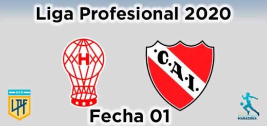 huracán independiente fecha 01 liga profesional copa maradona