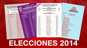 Elecciones en Huracán 2014