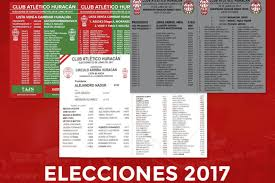 elecciones en huracán 2017