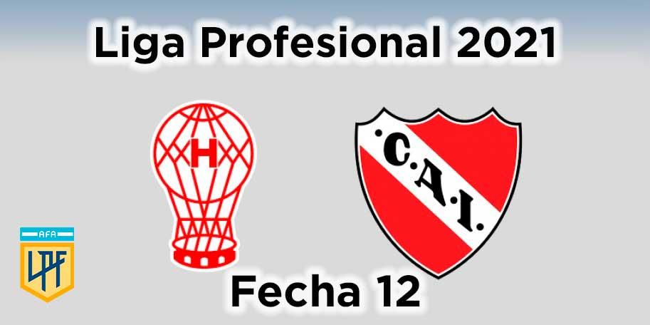 fecha-12-huracan-independiente-liga-profesional-de-futbol-argentino-2021