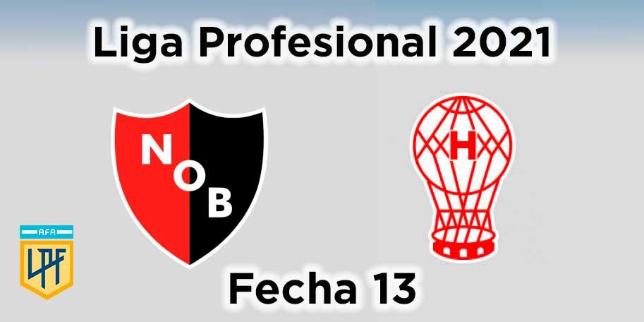 fecha-13-newells-vs-huracán-liga-profesional-de-fútbol-2021