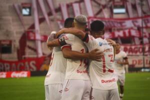 huracán vs unión fecha 02 - copa liga profesional  abrazo de gol